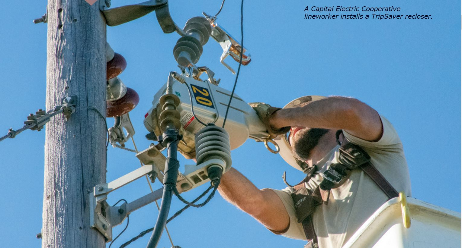 photo of line worker