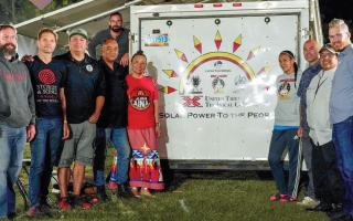 photo of United Tribes solar team